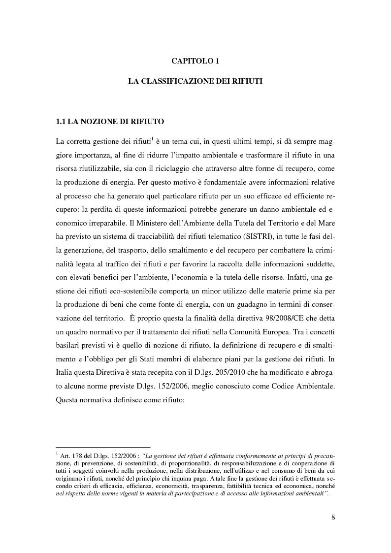 Anteprima della tesi: L'implementazione del SISTRI nella tracciabilità dei rifiuti: vantaggi e criticità, Pagina 6