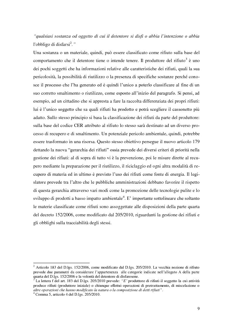 Anteprima della tesi: L'implementazione del SISTRI nella tracciabilità dei rifiuti: vantaggi e criticità, Pagina 7