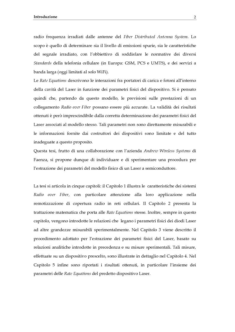 Anteprima della tesi: Determinazione delle caratteristiche fisiche di laser a semiconduttore a partire da modelli teorici e misure sperimentali, Pagina 3