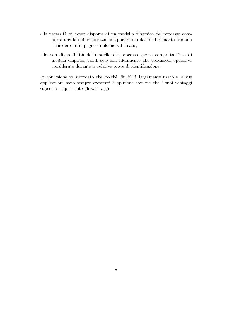 Anteprima della tesi: Prestazione di diverse tipologie di controllori predittivi per processi lineari multivariabili vincolati, Pagina 7
