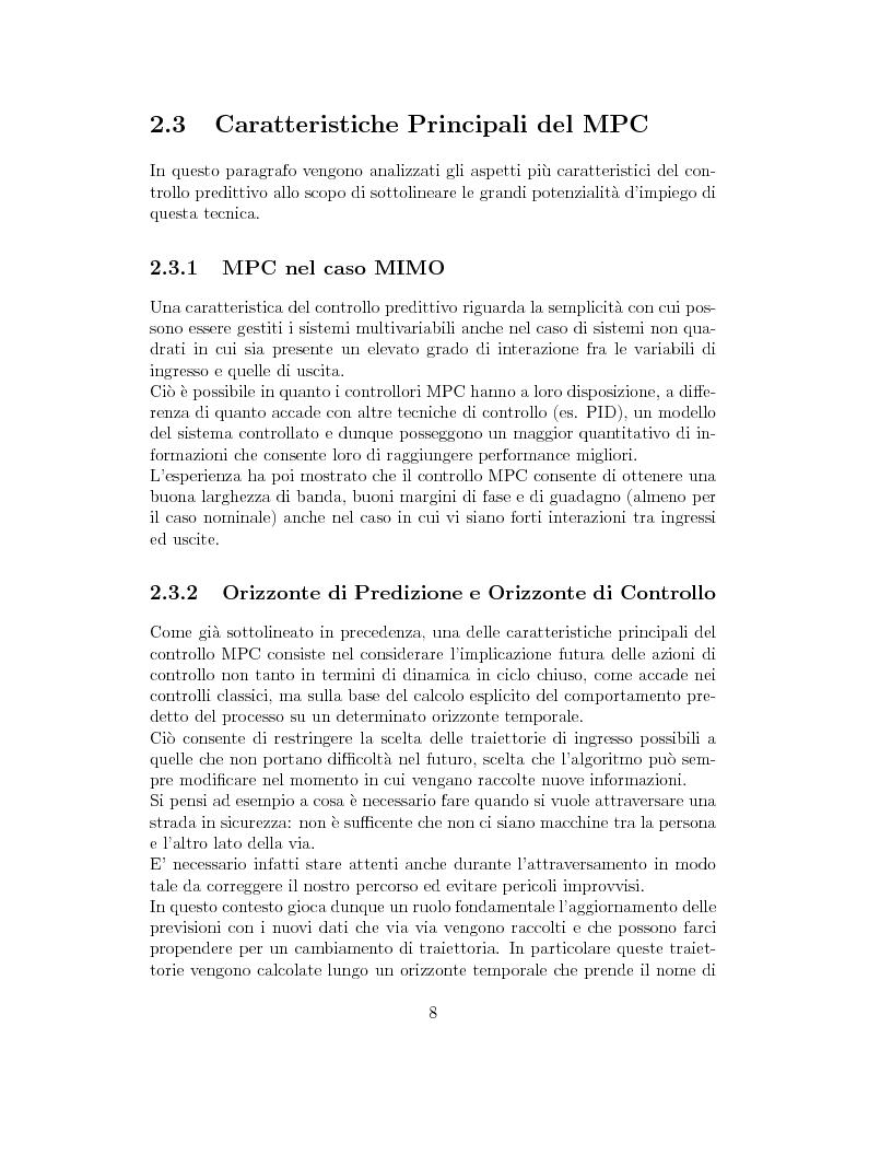 Anteprima della tesi: Prestazione di diverse tipologie di controllori predittivi per processi lineari multivariabili vincolati, Pagina 8