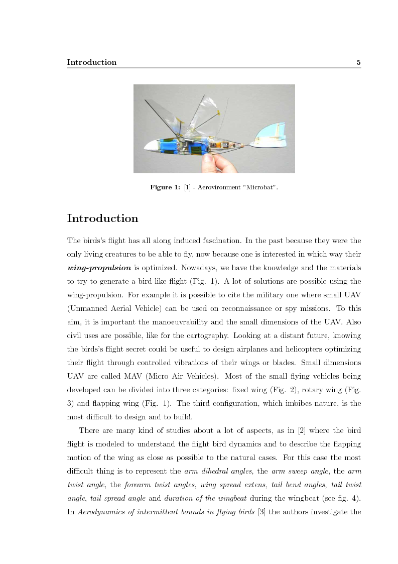Anteprima della tesi: Force measurements and cross-flow estimation on a flapping bird-like airfoil, Pagina 2