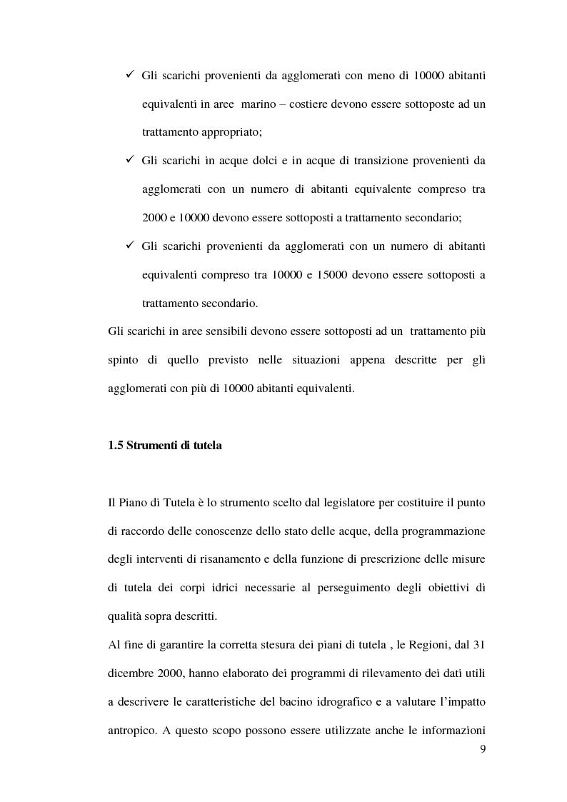 Anteprima della tesi: Impianti di depurazione a servizio di piccole comunità, con particolare riferimento ai sistemi MBR e ai processi elettrolitici., Pagina 10
