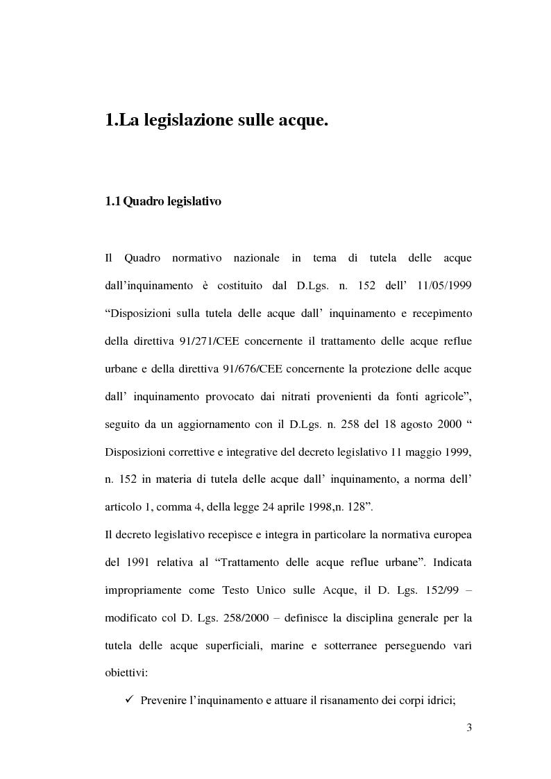 Anteprima della tesi: Impianti di depurazione a servizio di piccole comunità, con particolare riferimento ai sistemi MBR e ai processi elettrolitici., Pagina 4