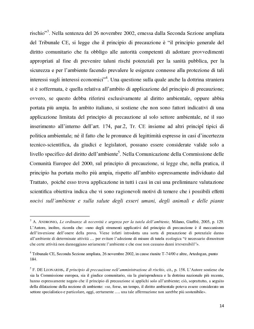 Anteprima della tesi: La decisione precauzionale tra normazione, amministrazione e giurisdizione, Pagina 3