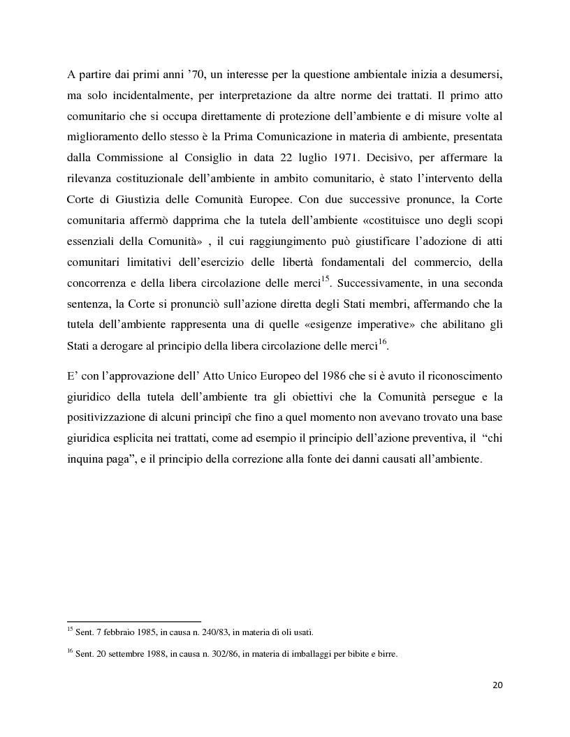 Anteprima della tesi: La decisione precauzionale tra normazione, amministrazione e giurisdizione, Pagina 9