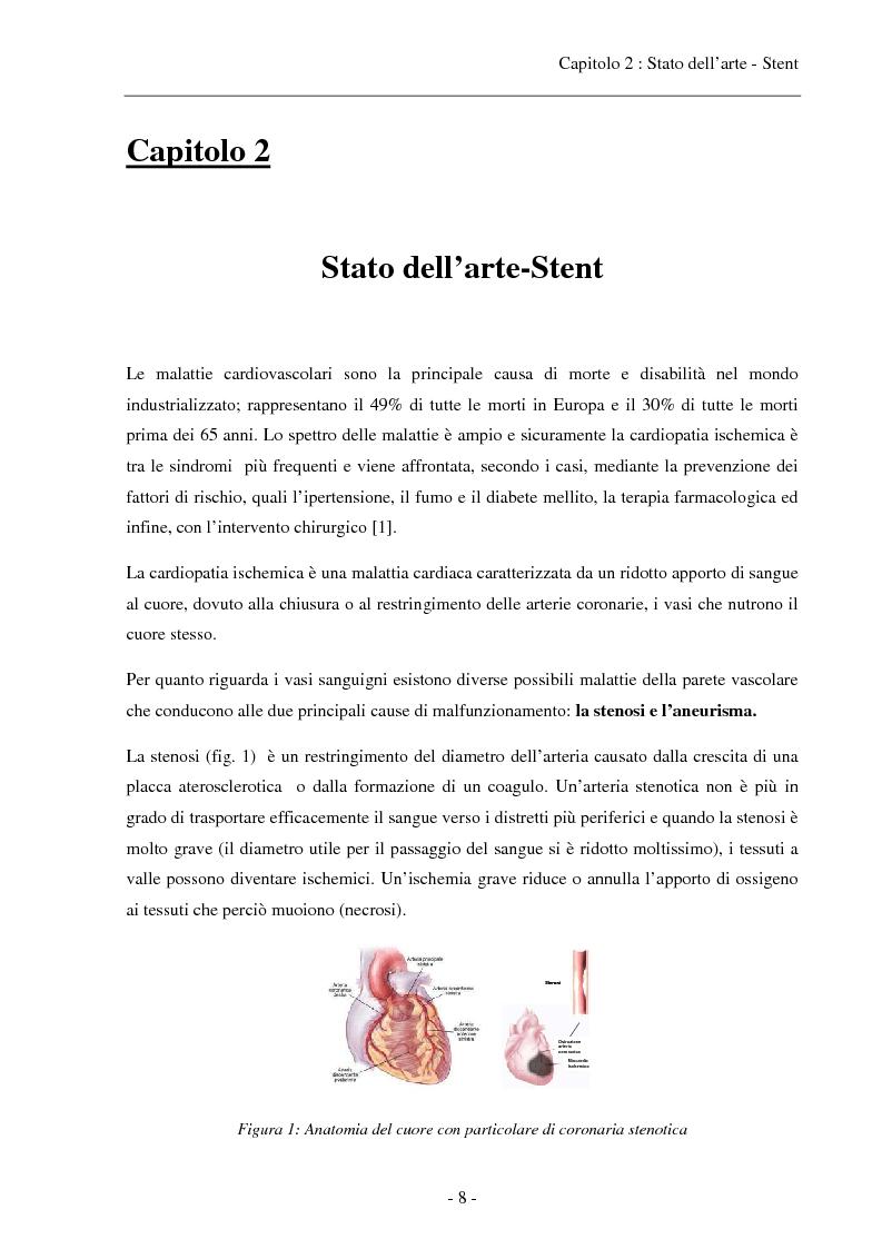Anteprima della tesi: Caratterizzazione di una soluzione polimerica a base di pHEMA per il rivestimento sterile di stent coronarici, Pagina 6