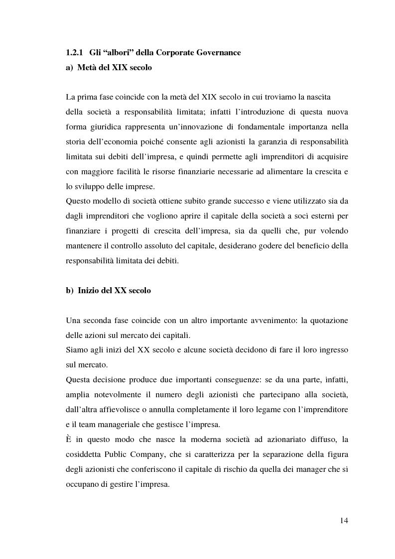 Anteprima della tesi: Corporate Governance e perfomance aziendale, Pagina 11