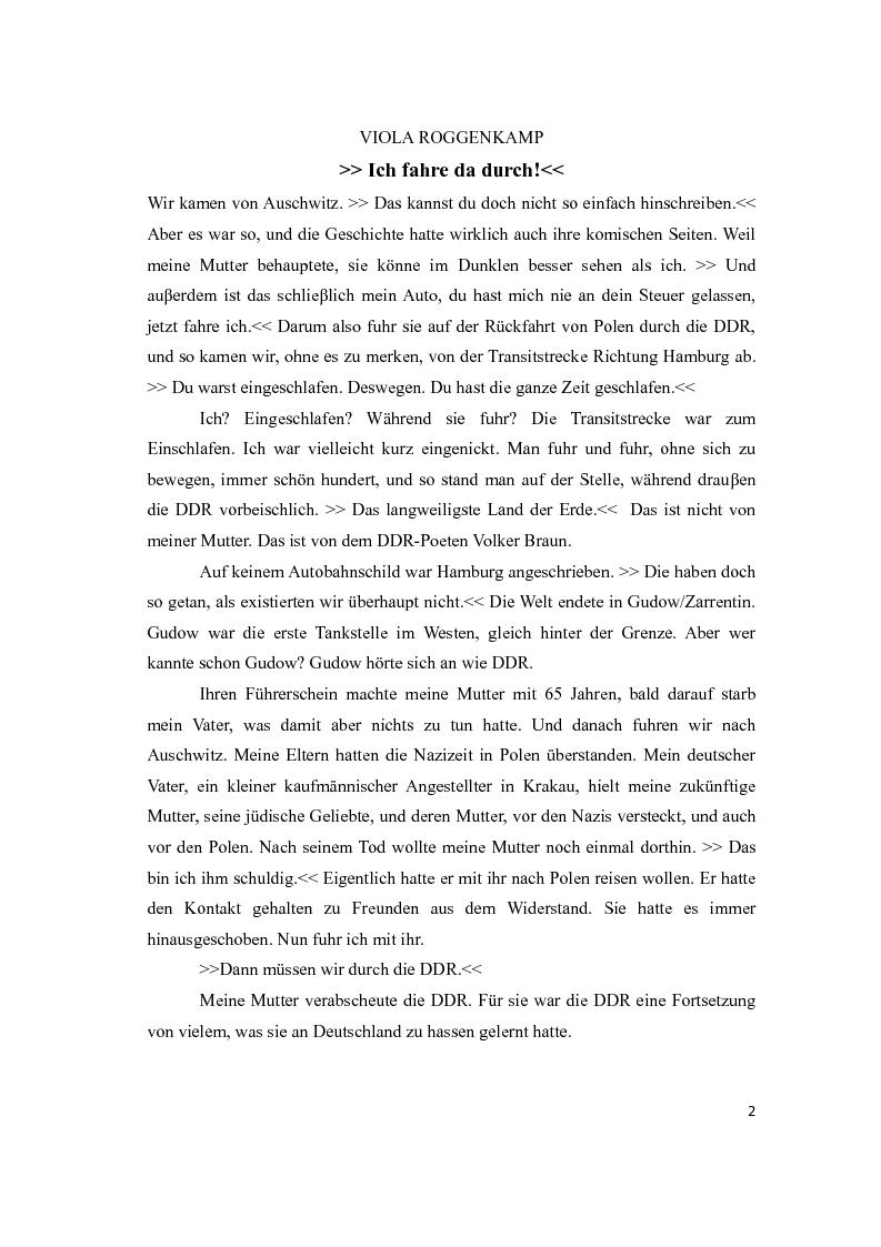 Anteprima della tesi: Traduzione e commento di tre racconti sulla Wendezeit, Pagina 2