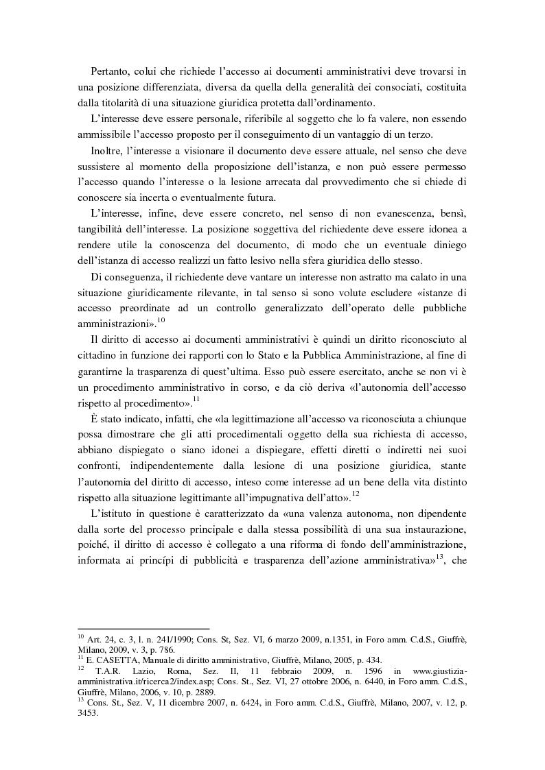 Anteprima della tesi: Diritto di accesso e diritto alla riservatezza, Pagina 4