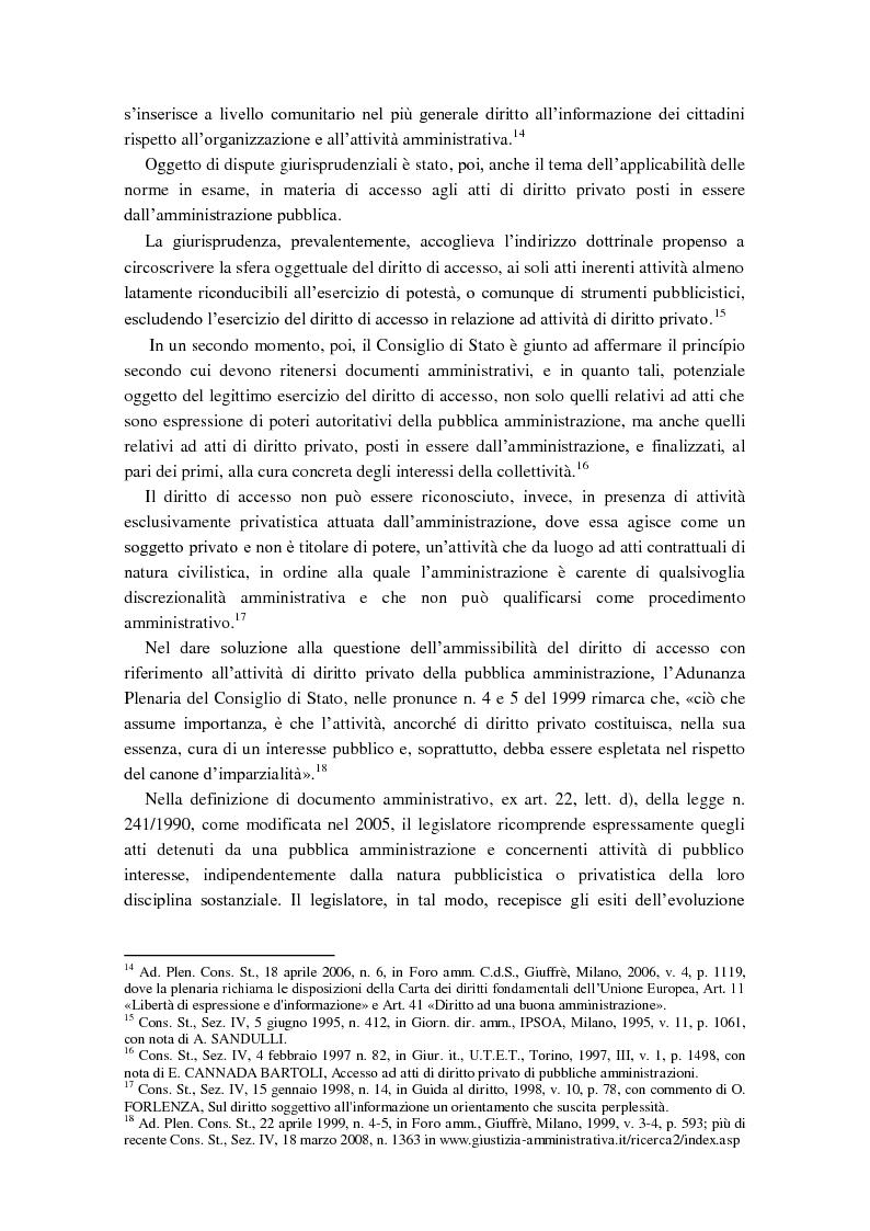 Anteprima della tesi: Diritto di accesso e diritto alla riservatezza, Pagina 5
