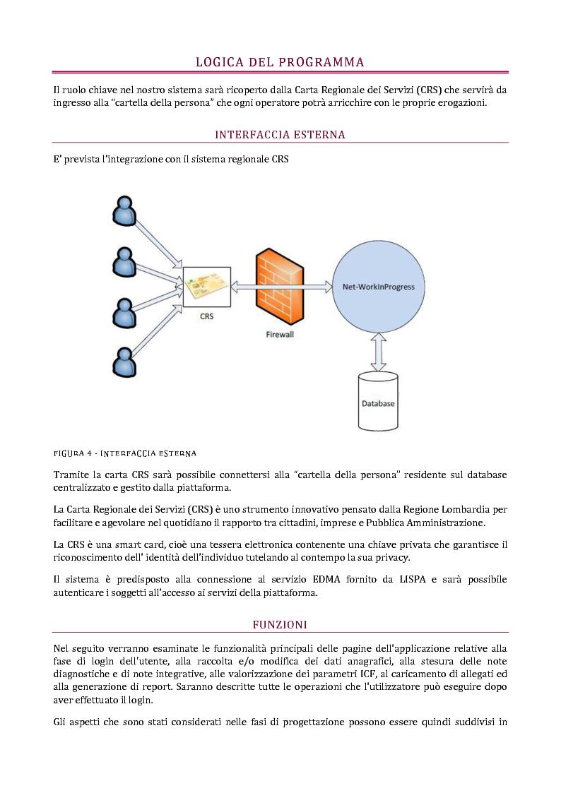 Anteprima della tesi: Net-WorkingInProgress. Sviluppo di un'applicazione per la gestione dei disabili secondo la classificazione ICF, Pagina 5