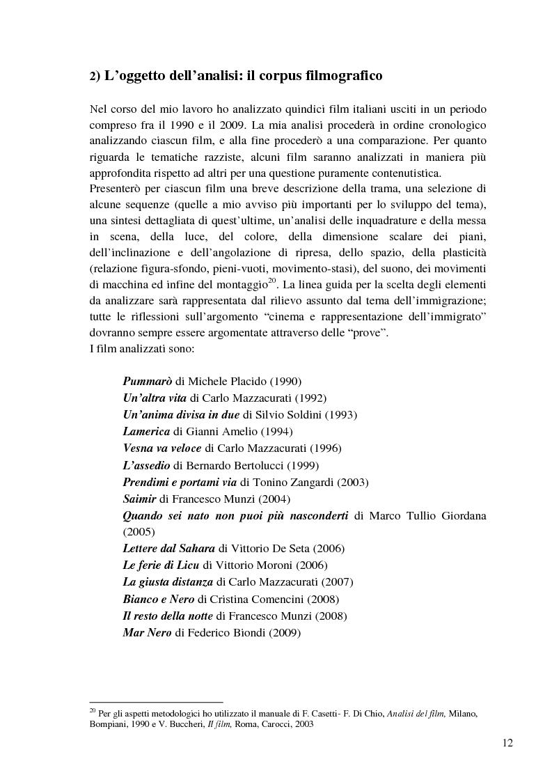 Anteprima della tesi: L'immigrazione a tutto schermo. Rappresentazione del migrante nel cinema italiano contemporaneo, Pagina 8