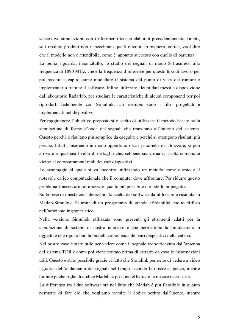 Anteprima della tesi: Valutazione sperimentale e simulativa per un ricevitore di segnali di modo S, Pagina 3