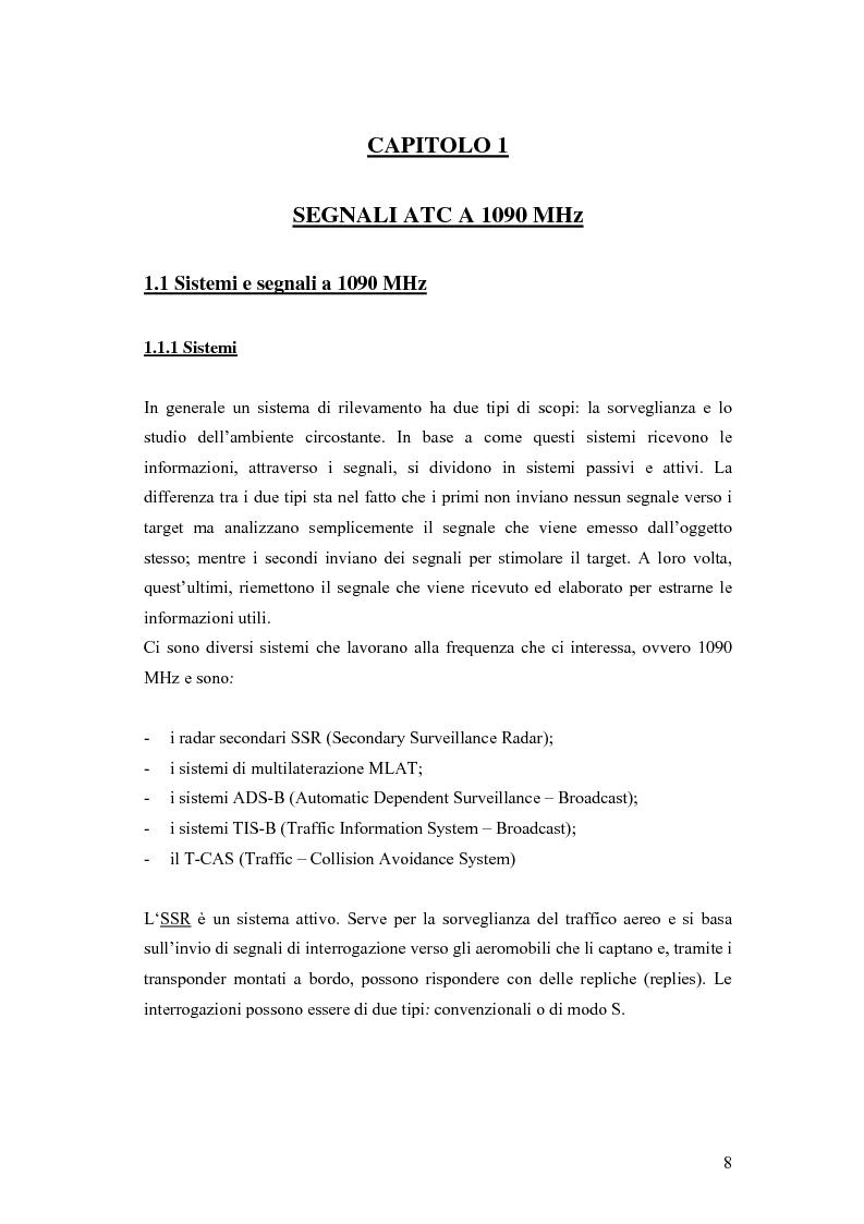 Anteprima della tesi: Valutazione sperimentale e simulativa per un ricevitore di segnali di modo S, Pagina 6