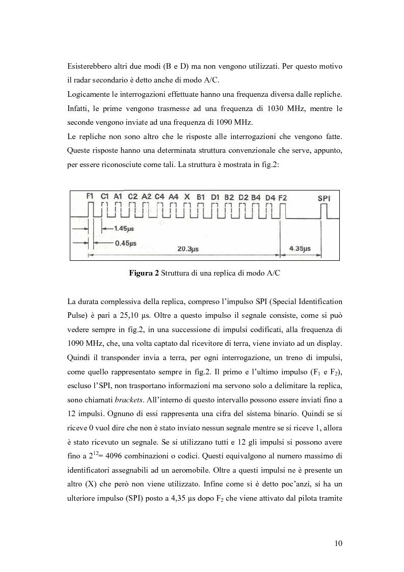 Anteprima della tesi: Valutazione sperimentale e simulativa per un ricevitore di segnali di modo S, Pagina 8