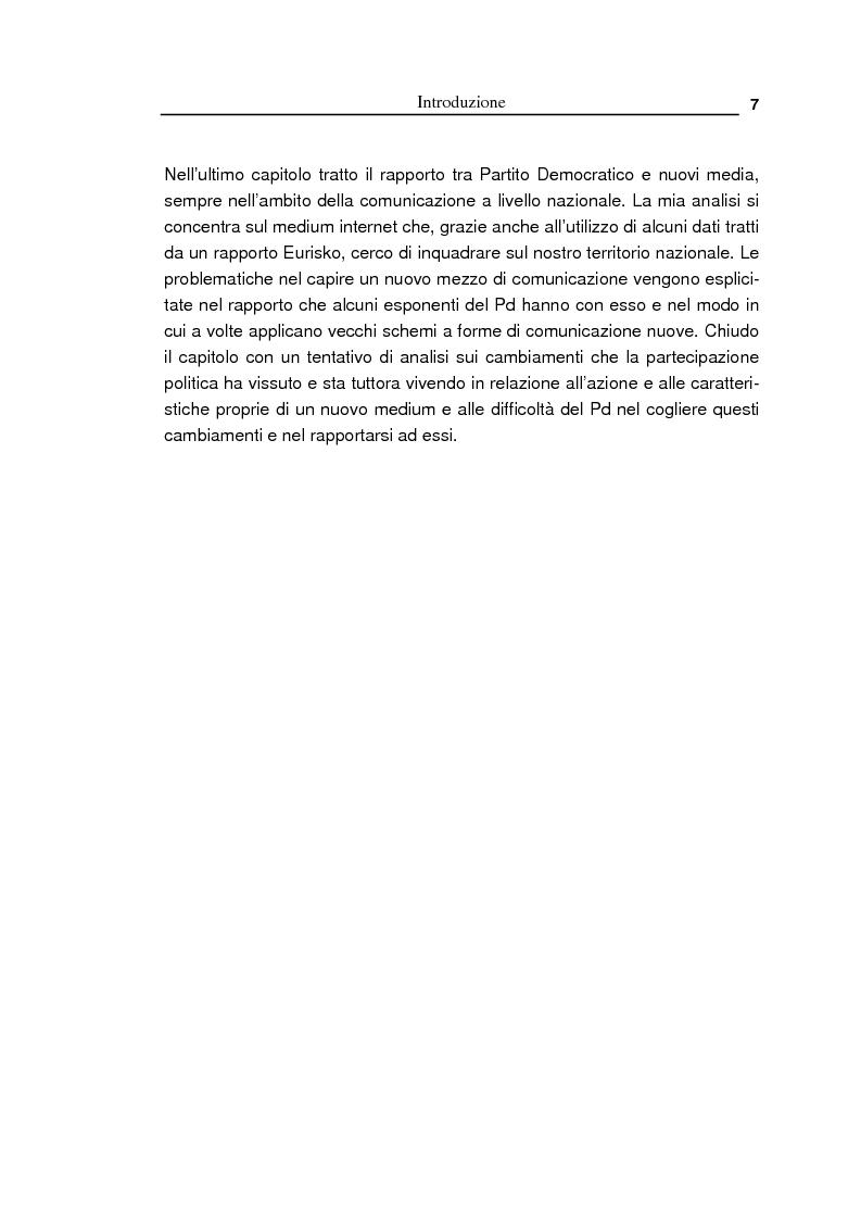 Anteprima della tesi: Oltre la massa? Il Pd tra vecchi e nuovi media. Analisi del caso torinese, Pagina 5