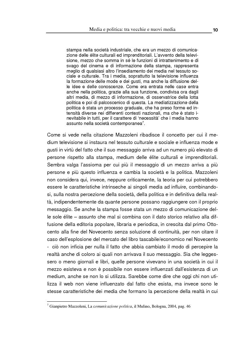 Anteprima della tesi: Oltre la massa? Il Pd tra vecchi e nuovi media. Analisi del caso torinese, Pagina 8