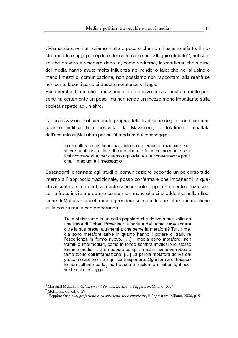 Anteprima della tesi: Oltre la massa? Il Pd tra vecchi e nuovi media. Analisi del caso torinese, Pagina 9
