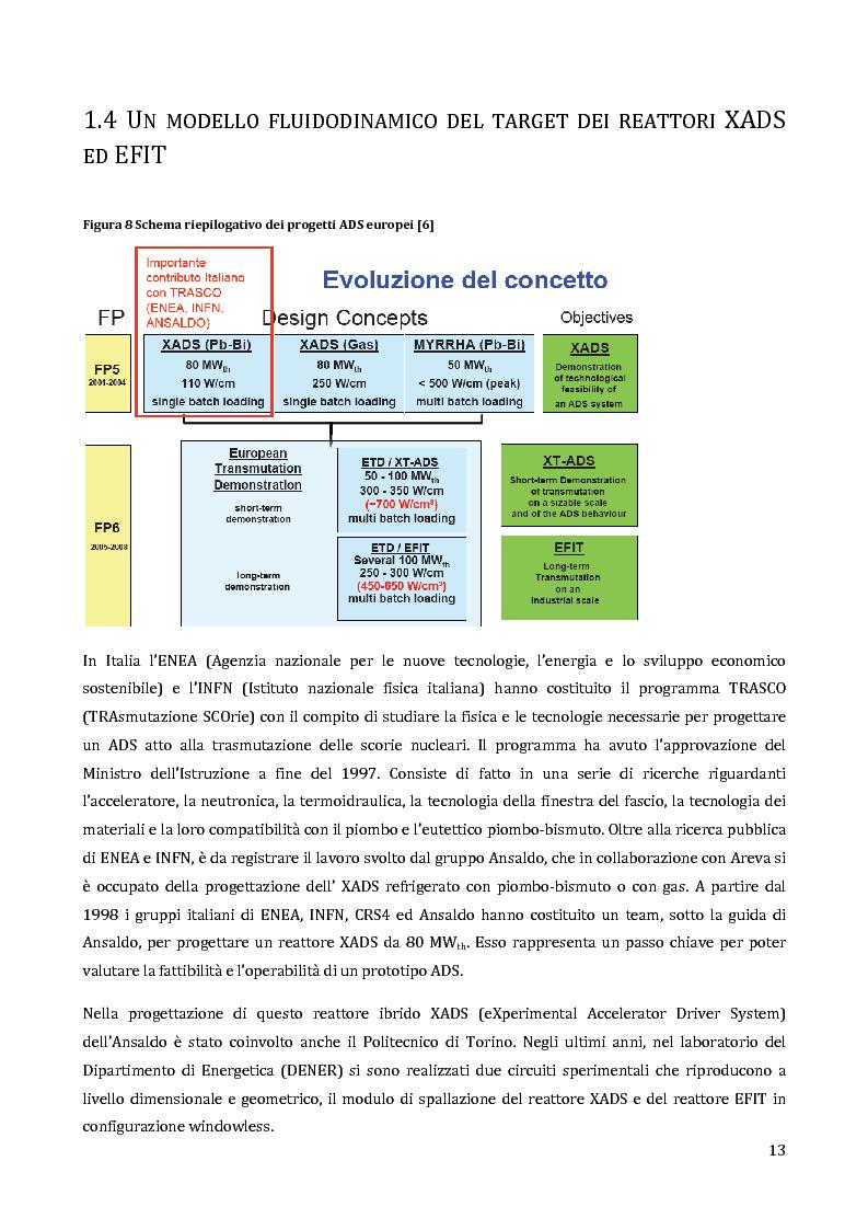 Anteprima della tesi: Velocimetria con gli ultrasuoni pulsati in un modello di target del reattore ADS, Pagina 12