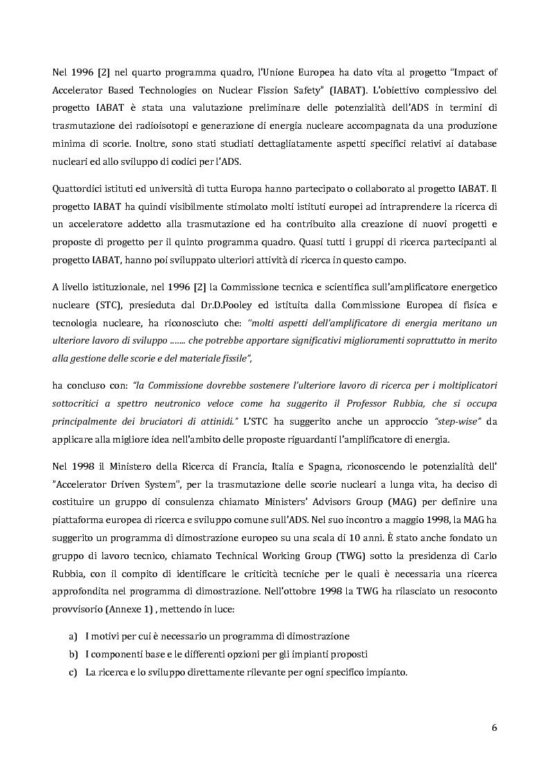 Anteprima della tesi: Velocimetria con gli ultrasuoni pulsati in un modello di target del reattore ADS, Pagina 5
