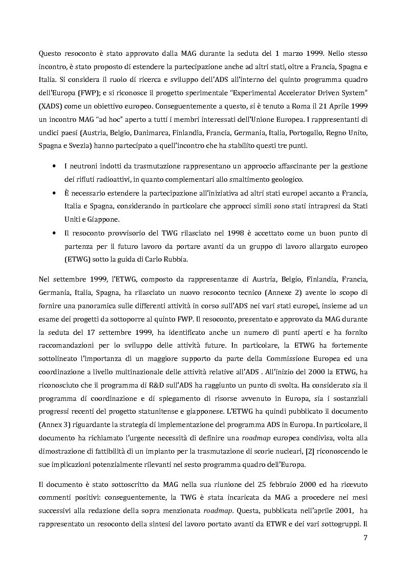 Anteprima della tesi: Velocimetria con gli ultrasuoni pulsati in un modello di target del reattore ADS, Pagina 6