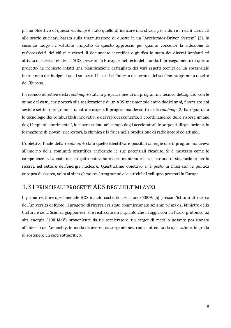 Anteprima della tesi: Velocimetria con gli ultrasuoni pulsati in un modello di target del reattore ADS, Pagina 7