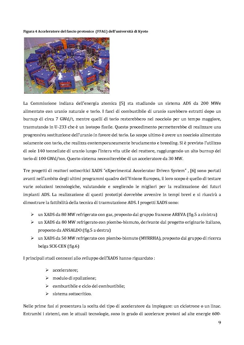 Anteprima della tesi: Velocimetria con gli ultrasuoni pulsati in un modello di target del reattore ADS, Pagina 8