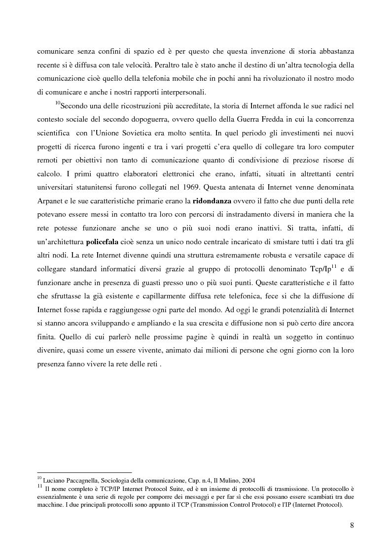Anteprima della tesi: Internet e gli italiani: il rapporto con la rete di cittadini e imprese, Pagina 3