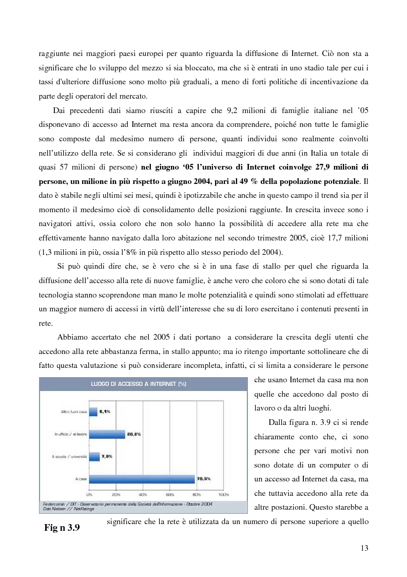 Anteprima della tesi: Internet e gli italiani: il rapporto con la rete di cittadini e imprese, Pagina 8