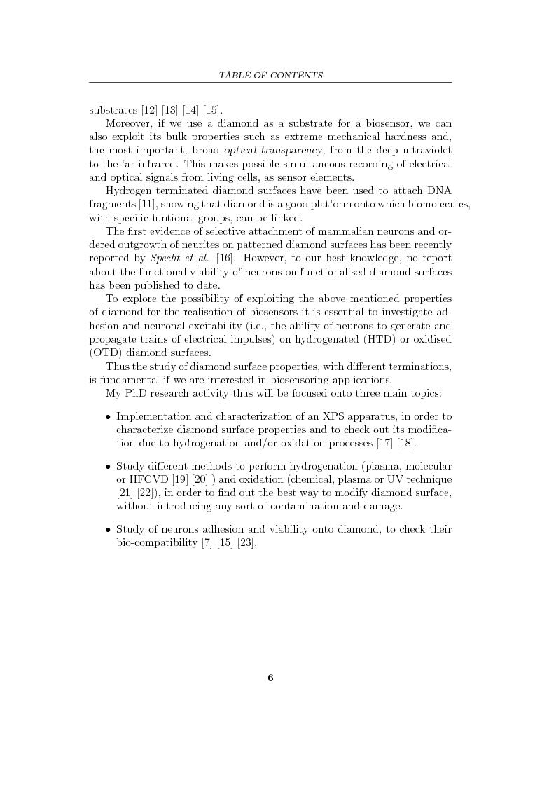 Anteprima della tesi: Study and characterization of diamond surface for biosensoring applications, Pagina 3