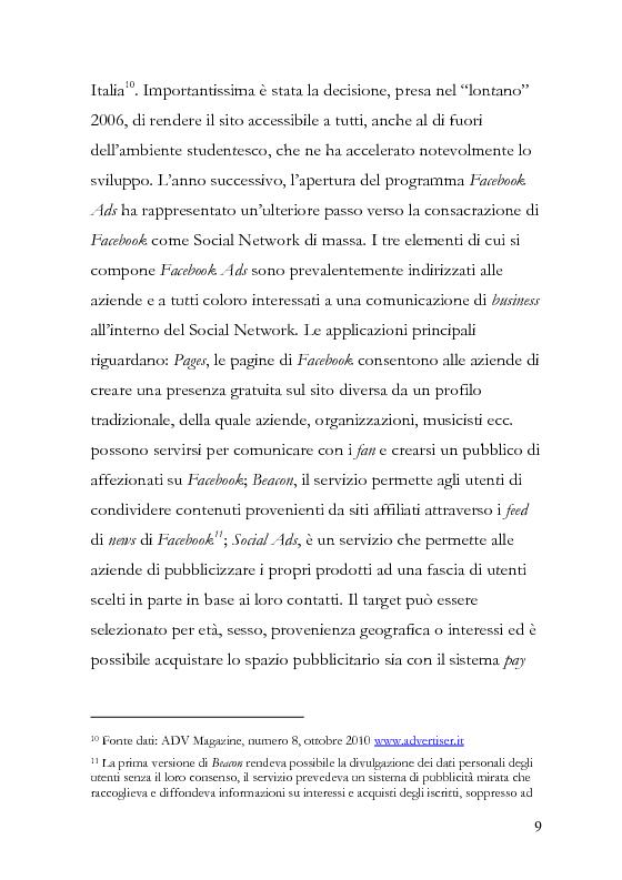 Anteprima della tesi: La comunicazione pubblicitaria diventa social, la pubblicità borderline. , Pagina 10
