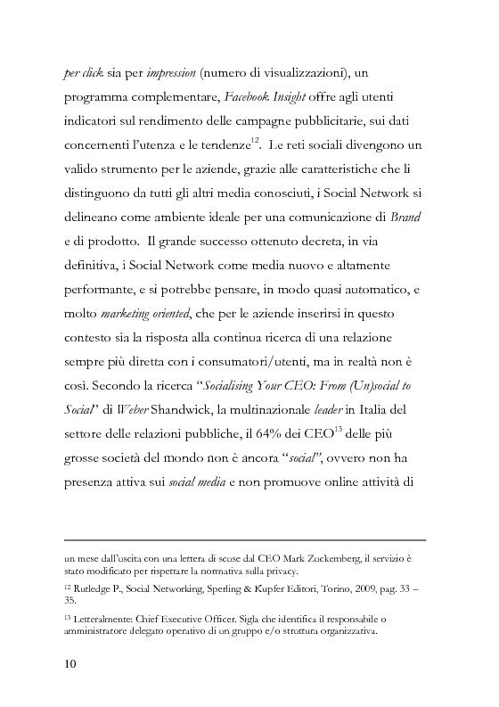 Anteprima della tesi: La comunicazione pubblicitaria diventa social, la pubblicità borderline. , Pagina 11