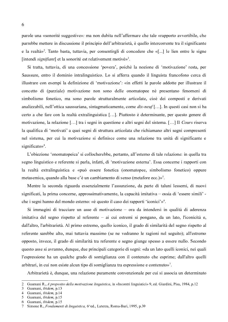 Anteprima della tesi: L'iconismo morfonologico: strategie motivate per la significazione di contenuti grammaticali, Pagina 4
