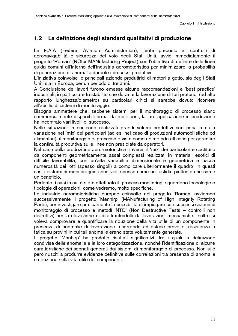 Anteprima della tesi: Tecniche avanzate di process monitoring applicate alla lavorazione di componenti critici aeromotoristici, Pagina 5