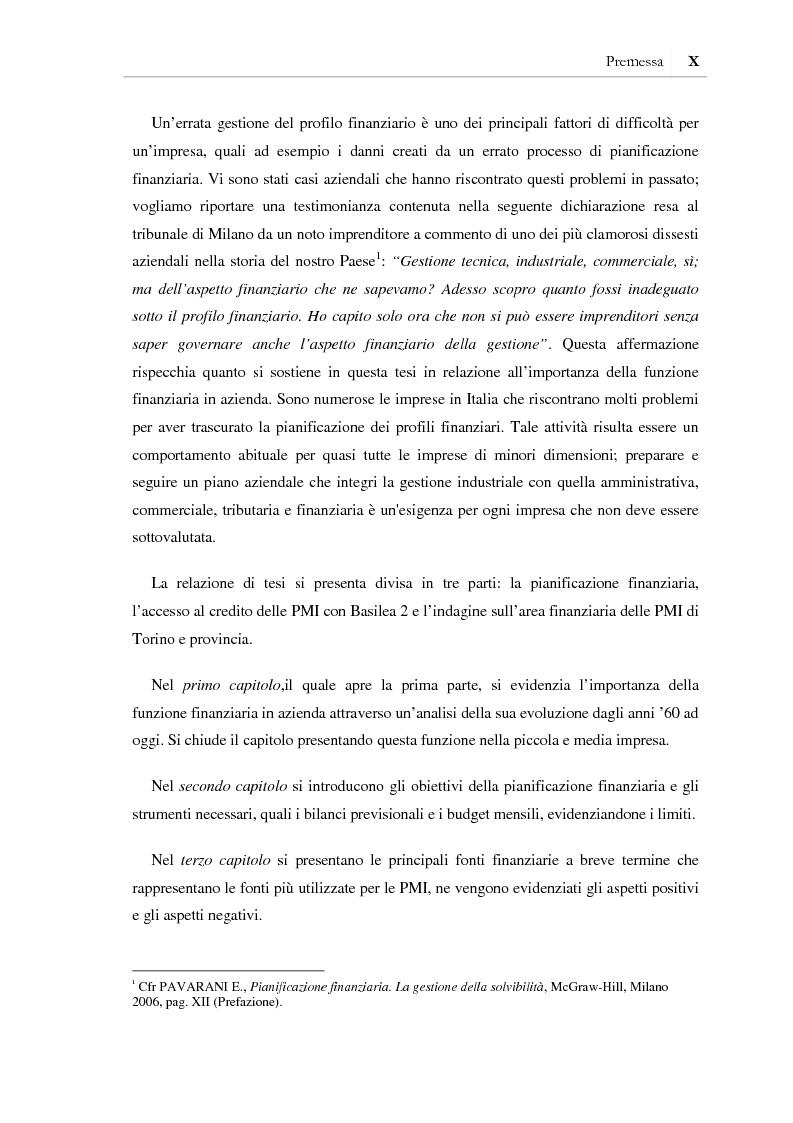 Anteprima della tesi: I benefici della pianificazione finanziaria per le PMI nell' accesso al credito bancario: analisi empirica, Pagina 4