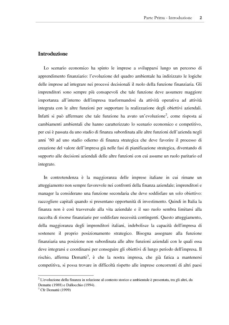 Anteprima della tesi: I benefici della pianificazione finanziaria per le PMI nell' accesso al credito bancario: analisi empirica, Pagina 7