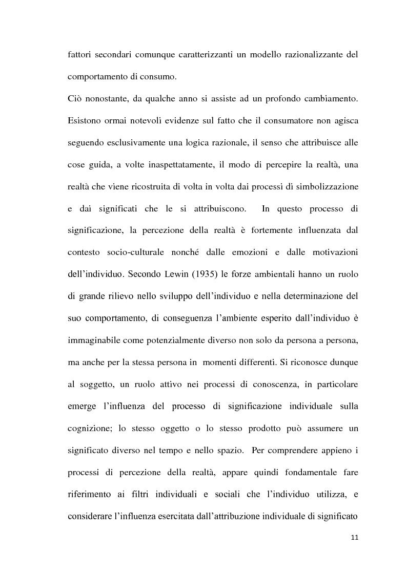 Anteprima della tesi: L'atmosfera del punto vendita. Luci, suoni, odori e sapori per riscoprire i sensi. Il caso Feltrinelli, Pagina 10