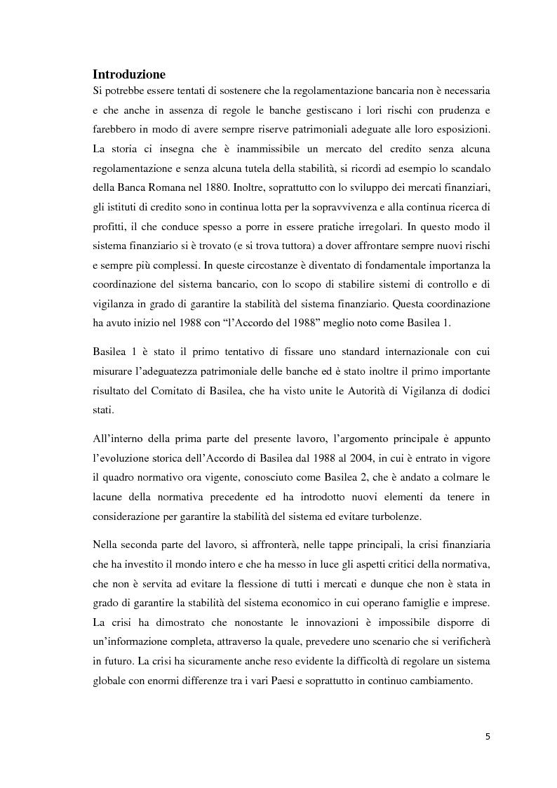 Anteprima della tesi: L'esigenza di un sistema finanziario stabile: Basilea 3, Pagina 2