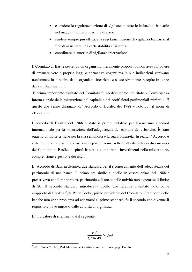 Anteprima della tesi: L'esigenza di un sistema finanziario stabile: Basilea 3, Pagina 5