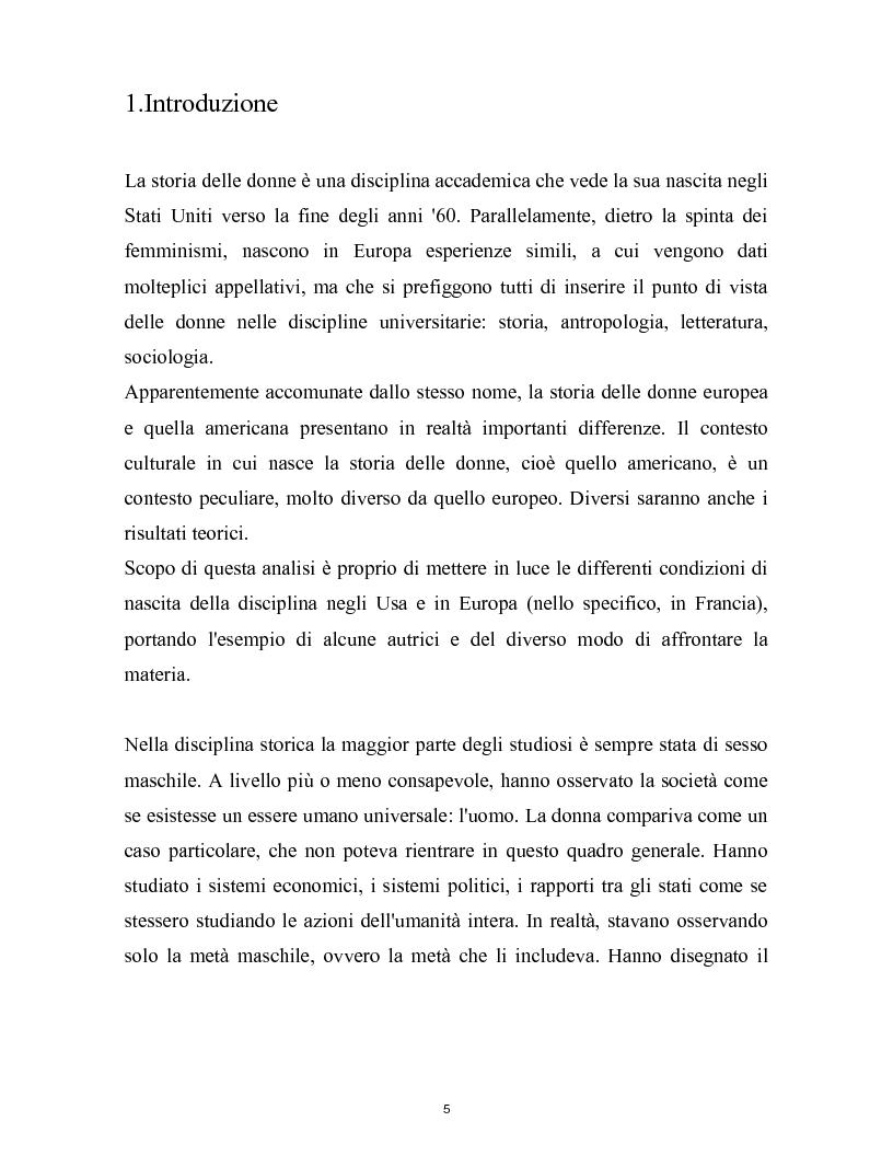 Anteprima della tesi: La nascita della storia di genere. La scuola americana e quella francese a confronto., Pagina 2