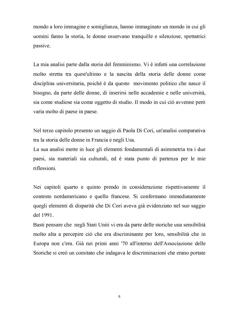 Anteprima della tesi: La nascita della storia di genere. La scuola americana e quella francese a confronto., Pagina 3