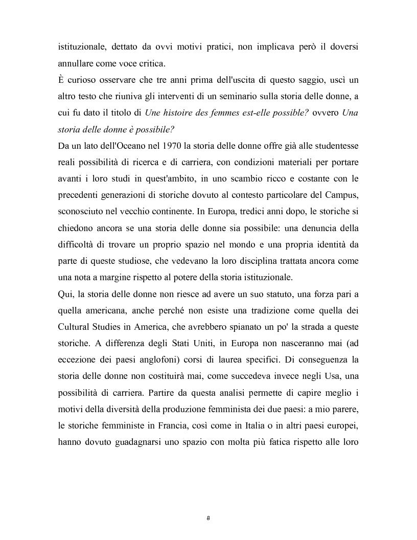 Anteprima della tesi: La nascita della storia di genere. La scuola americana e quella francese a confronto., Pagina 5