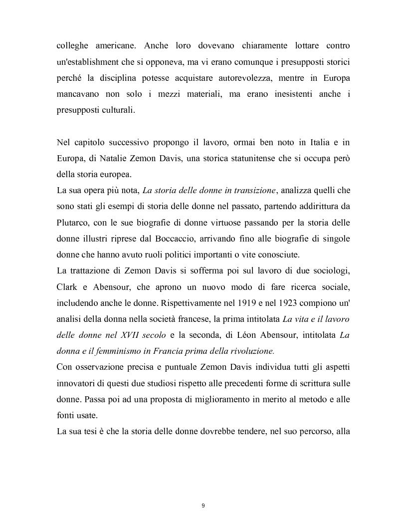 Anteprima della tesi: La nascita della storia di genere. La scuola americana e quella francese a confronto., Pagina 6