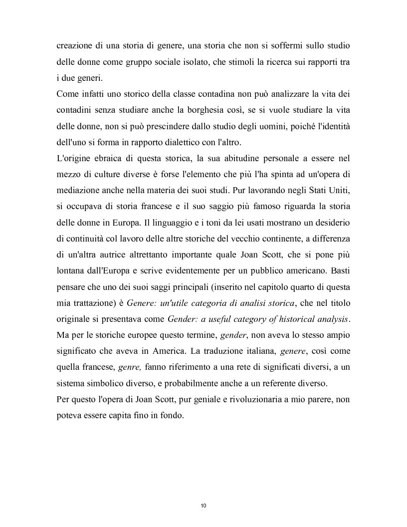 Anteprima della tesi: La nascita della storia di genere. La scuola americana e quella francese a confronto., Pagina 7