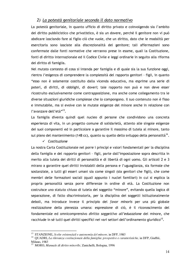 Anteprima della tesi: Il consenso ai trattamenti sanitari per i minori, Pagina 10