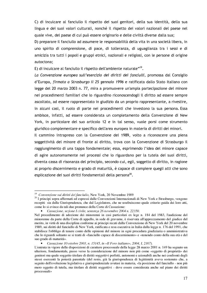 Anteprima della tesi: Il consenso ai trattamenti sanitari per i minori, Pagina 13