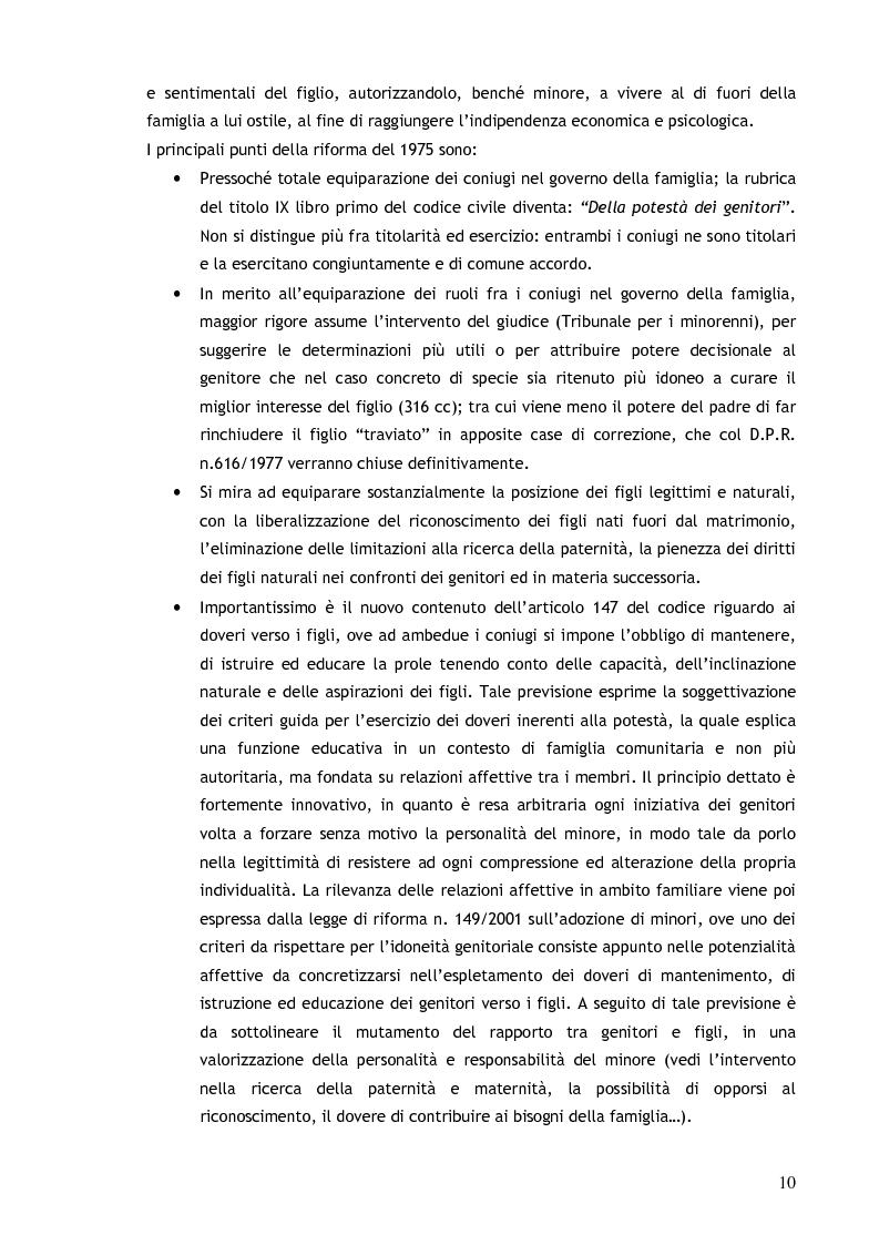 Anteprima della tesi: Il consenso ai trattamenti sanitari per i minori, Pagina 6