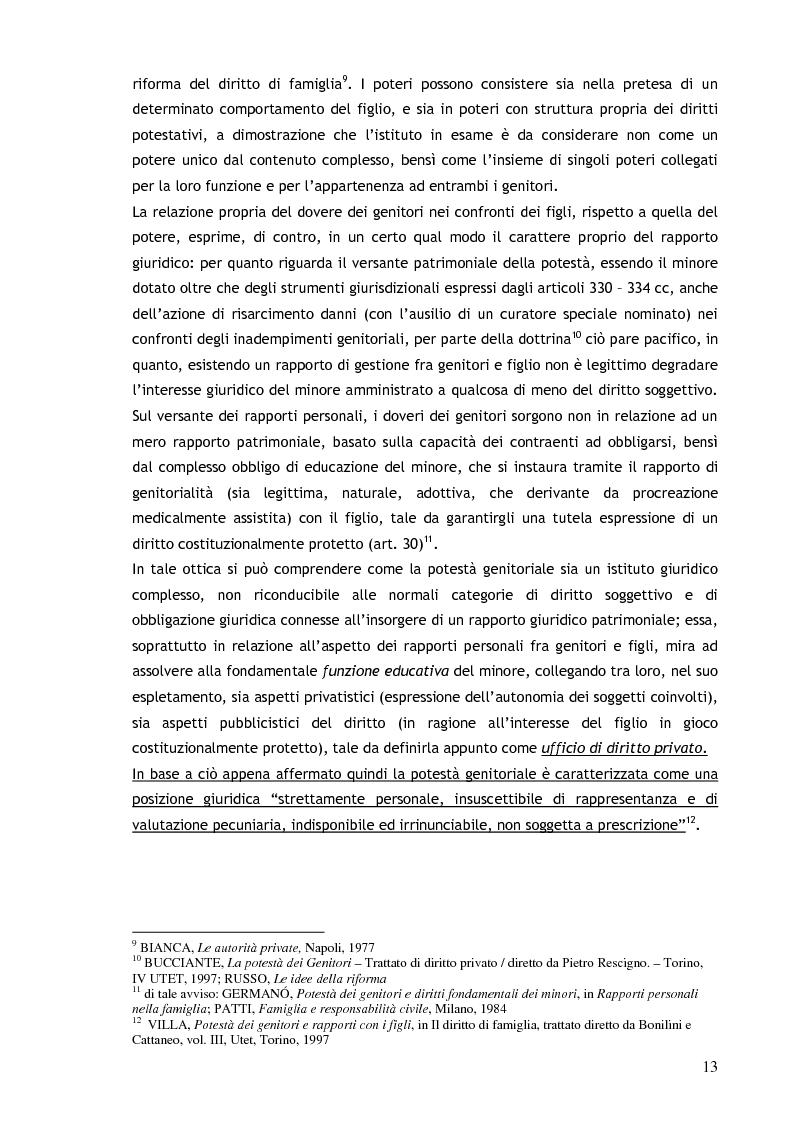Anteprima della tesi: Il consenso ai trattamenti sanitari per i minori, Pagina 9