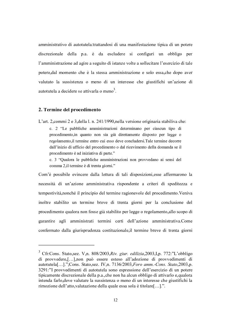 Anteprima della tesi: L'Istituto del Silenzio Assenso alla luce della L. n. 241/1990 e successive modifiche, Pagina 11